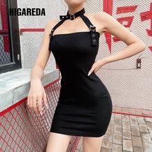 Женское мини платье с открытой спиной higareda черное облегающее