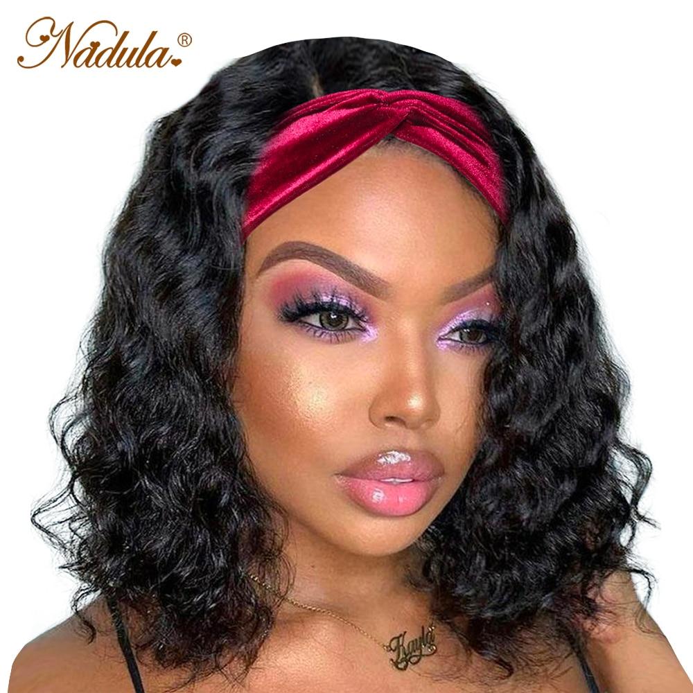 Nadula Water Wave BOB Wig Short Headband Wig  Easy Install Short Bob Water Wave Headband Wig for American Women 1