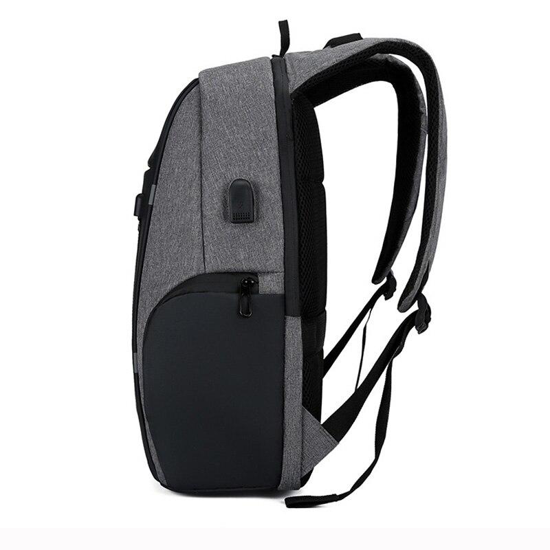 Мужской рюкзак, usb зарядка, водонепроницаемый рюкзак для ноутбука, женский, Повседневный, Оксфорд, мужская, деловая сумка, 15,6 дюймов, компьют...