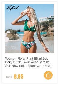 Женский Одноцветный комплект бикини, сексуальный купальник с низкой талией, купальник, летний купальный костюм, низкая талия, пляжная одежд... 19