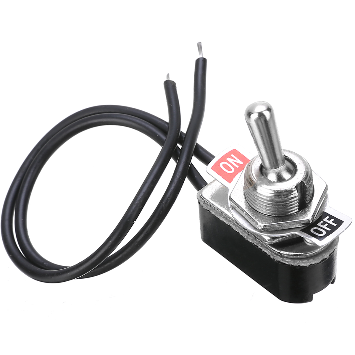 AC 250V 6A On Off Prewired Standard Toggle Switch With Wire Cable KNS 1 SPST Contacts Switch Electrical Equipment in Switches from Lights Lighting