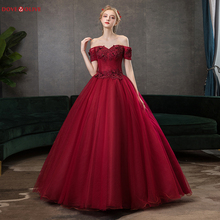 Ball-Gown 15-Dress Sweetheart Quinceanera Party Burgundy Off-Shoulder Lace Crystal Short