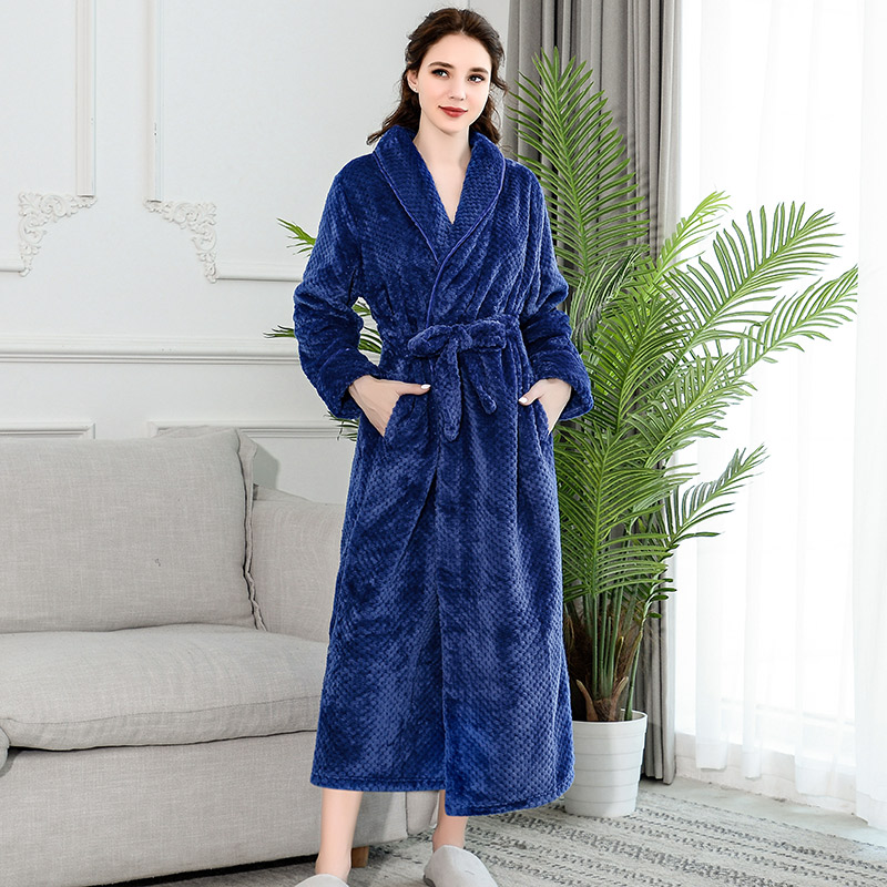 Image 2 - Winter Coral Velvet Bathrobe Women Pajamas Womens Nightgowns Flannel Warm Robe Sleepwear Womens Robes Coral Velvet  ouc304-in Robes from Underwear & Sleepwears
