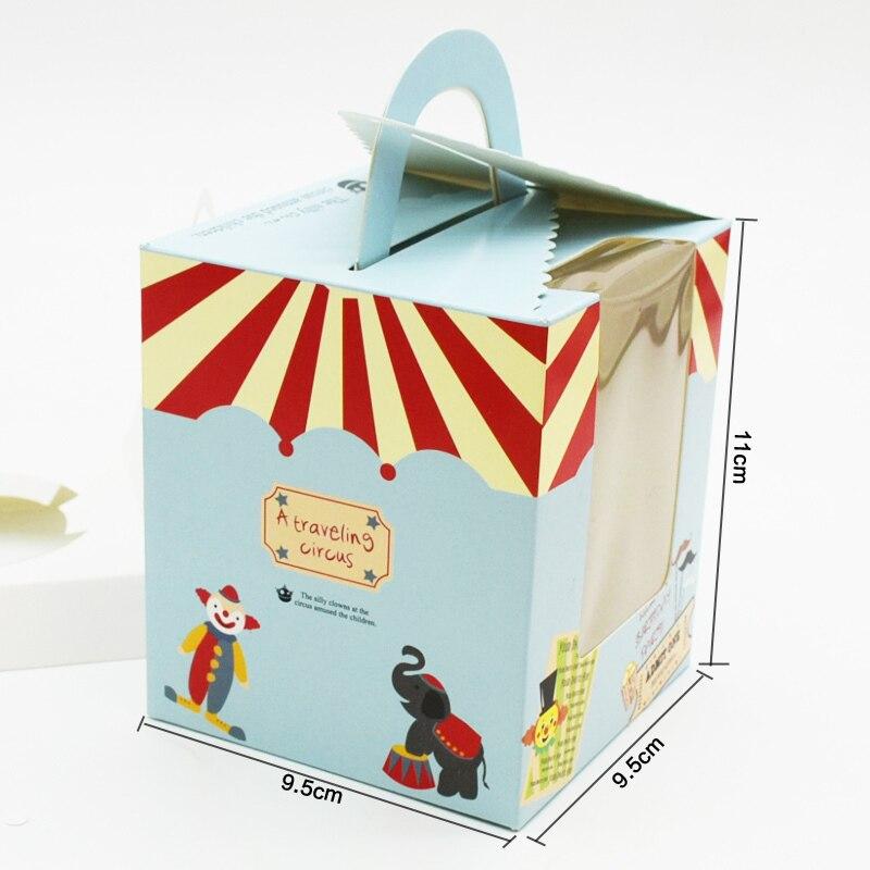 50 pièces boîte à Cupcake avec poignée de fenêtre cirque licorne fleur de noël boîte de cadeau de mariage emballage tasse gâteau Kraft boîtes d'emballage - 6
