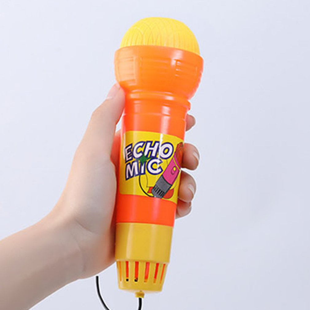 1pcs Large Echo Microphone Mic Voice Changer Toy Gift Birthday Present Kids Party Song Learning Toys For Children Microphone Toy