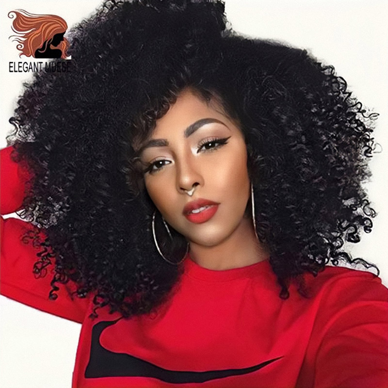 ELEGANT MUSES Synthetic Jerry Curl Ombre Kinky Curly Hair Crochet Braids Hair Extensions For Women 8 12inch 30g