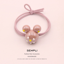 Sempli High Elasticity Elastic Hair Bands For Women Acrylic Mickey Minnie Head Heart Love Five Star Kid Children Rubber