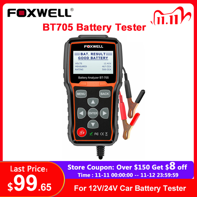 Foxwell BT705 12V 24V Auto Batterie Tester System Diagnostic Analyzer Tool Regelmäßige Überflutet AGM GEL Typ Auto Lkw batterie Analyzer