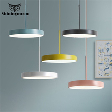 Nordic Led Macarons Pendant Lights Modern Colorful Dining Room Kitchen Hanging Lamp Living Room Home Decor Hanglamp Luminaria