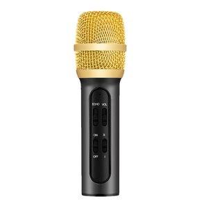 Image 1 - 휴대용 전문 가라오케 콘덴서 마이크 노래 녹음 에코 사운드 카드와 휴대 전화 컴퓨터에 대 한 라이브 Microfone