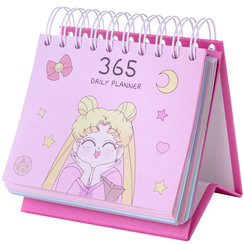 2020 Daily Table Calendar To Do List 365 Days Planner Desk Calendar 1 Year  Free Time Agenda Cartoon Sailor Moon Planner