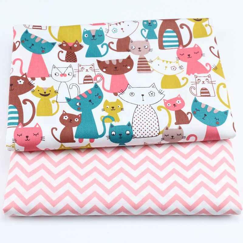 Kot fale drukowane 100% tkanina bawełniana do produkcji sukienki poduszki koc szycia dziecko dziecko prześcieradło tekstylne