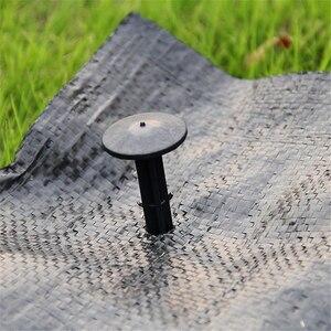 Image 2 - 50 Uds jardín suelo uñas PP mantillo herramientas para arreglar Efecto invernadero película de hierba prevención tela de tierra sombrilla volar plástico neto fijo clavijas