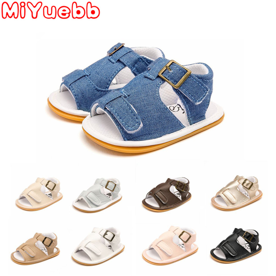 Children Shoes 2020 Brand Baby Baby Girls Boys Shoes Solid Non-slip Pu Leather Breathable Toddler Shoes 0-18m Baby Girl Sandals