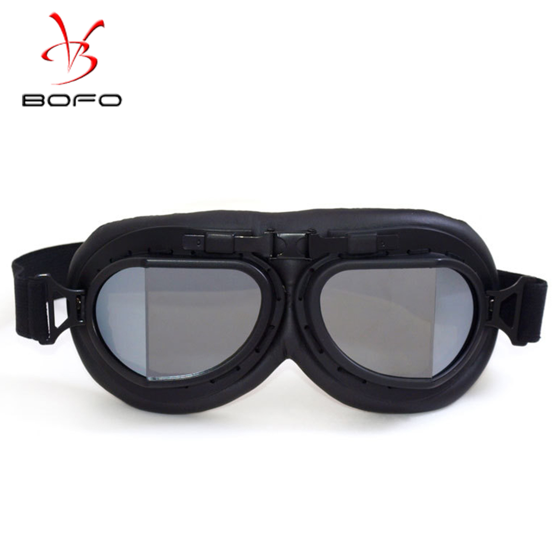 Manufacturers Harley Goggles Retro World War II Goggles Harley Goggles For Motorcycle Windproof Sand Labor Glasses All Black Box