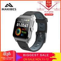 11.11 RU/ES במלאי! Strava Makibes BR3 גברים GPS חכם שעונים SmartBand IP68 עמיד למים כושר tracker עבור טלפון huawei IOS