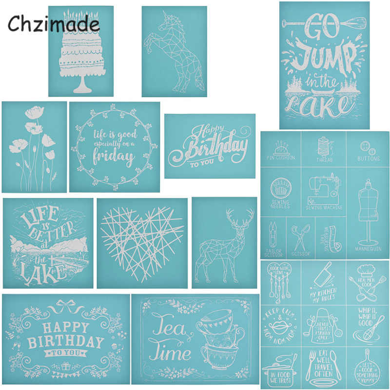 Christmas Silk Screen Printing Stencils Home Decor Stamps for T Shirt Painting Decor DIY Handmade Crafts Paints Transfer 8.5X11 Inch