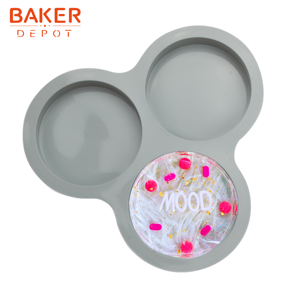 <font><b>BAKER</b></font> <font><b>DEPOT</b></font> 4inch rainbow cake mold Silicone mold for soap resin disc bread cake pastry baking form cake decoration tool image