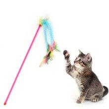 Zabawka dla kota kot domowy Teaser zabawki Feather Cat Catcher Teaser Stick interaktywne zabawki dla kota dla kotów kocięta produkt dla zwierząt