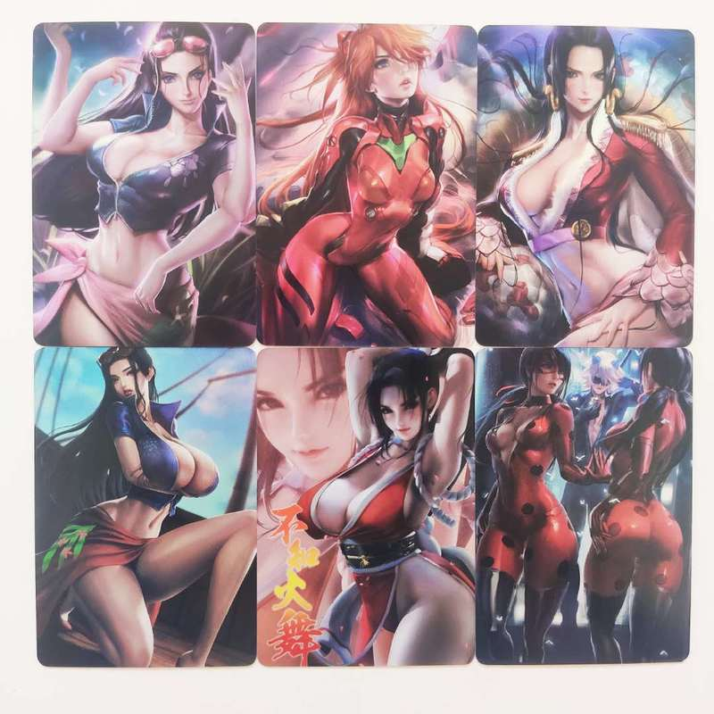 9pcs/set Sexy Beauty One Piece Robin Sexy Girls Dragon Ball Z Hobby Collectibles Game Collection Cards Limited