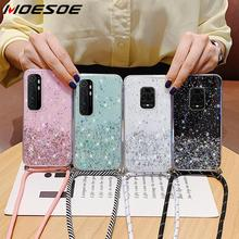 With Neck Strap Rope Cord Clear Glitter Case For Xi