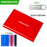 2TB PIRISI P616I 2.5 HDD External Hard Drive 1TB Storage Shockproof Portable Hard Disk Metal Silm 5 Color
