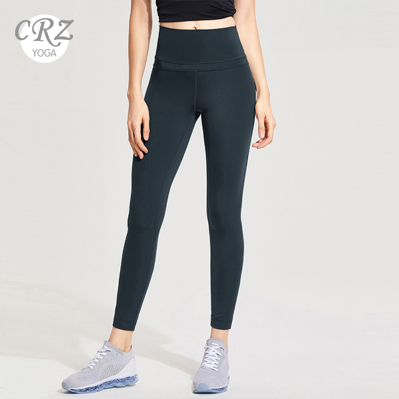 CRZ YOGA Women's Yoga Leggings Naked Feeling I High Waist Tight Workout Pants-25 Inches