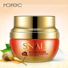 ROREC Snail Face Cream Moisturizer Remover Freckles Collagen Facial Treatment Acne Moisturizing Whitening Anti Wrinkle