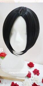 Image 2 - Peluca Cosplay Anime nana oosaki nana cosplay peluca negra corta recta corte Central peinados resistente al calor pelucas de pelo sintético + gorra de peluca