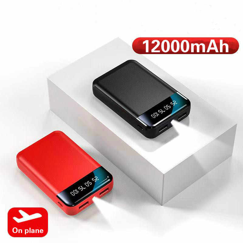 12000mAh Power Bank For Xiaomi Mi iphone 8 External Battery Portable Charger Double USB Powerbank Mini Poverbank Bateria Externa