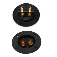 Car Stereo Speaker Box Terminal Round Spring Cup Connector Subwoofer Plug