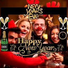 QIFU Happy New Year Decorations 2020 Party Years Eve  Christmas Decoration For Home Photo Booth Frame Props 2019 Navidad