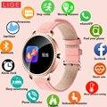 LIGE Nuovo 1.0 pollici Donne di Modo Astuto Della Vigilanza Uomini Donne Impermeabile Heart Rate Monitor Calorie Smartwatch Per Android IOS iPhone
