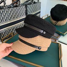 Visors-Cap Octagonal-Hat Autumn Women Belt Blended Leisure Lady New