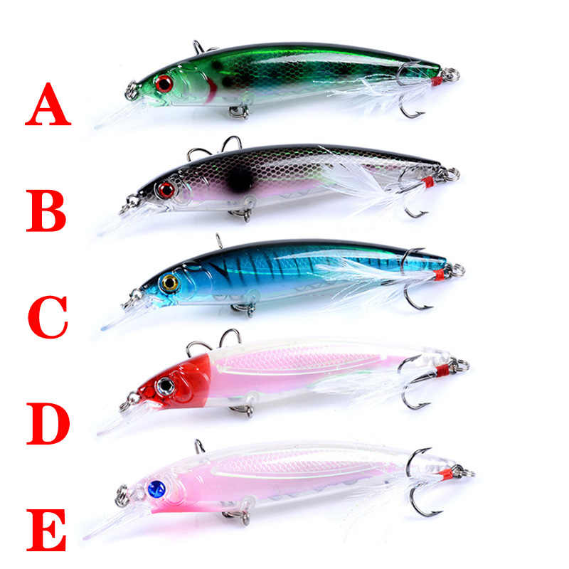 1pcs Lifelike Minnow Floating Fishing Lure 9.5cm 7.2g Fish Wobblers with 6#