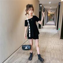 Teen Mädchen Kleidung Sets 8 10 12 Jahre Alt 2 Pcs Kleidung Für Mädchen One Off Schulter Anzug Für Mädchen sommer Mode Mädchen Kleidung