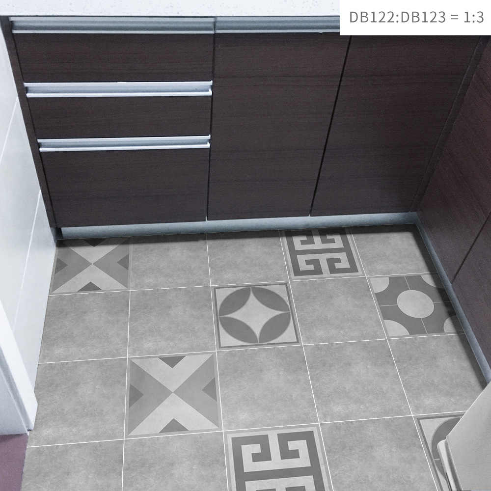 Funlife Grey Cement Self Adhesive Vinyl Floor Tiles Waterproof