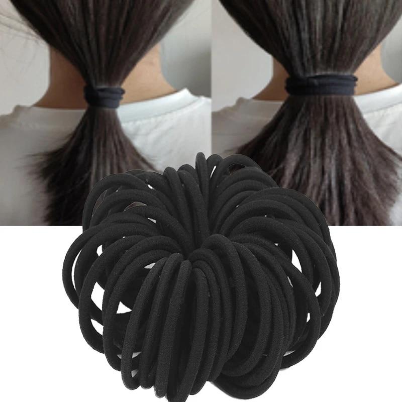 50Pcs Women Girls Hair Bands Ties Rope Rings Elastic Hairband Ponytail Holder