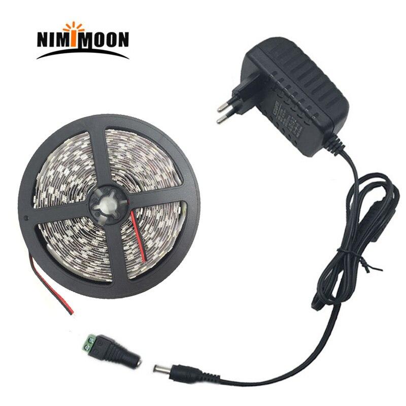 5050 tira de led blanco cálido RGB 5m 10m cinta de luces led cinta de alimentación diodo tiras 12V luz led con adaptador de corriente DC 12V Tira LED SMD 2835 · Tiras LED flexible impermeable IP67 Chip LED 2835 con transformador