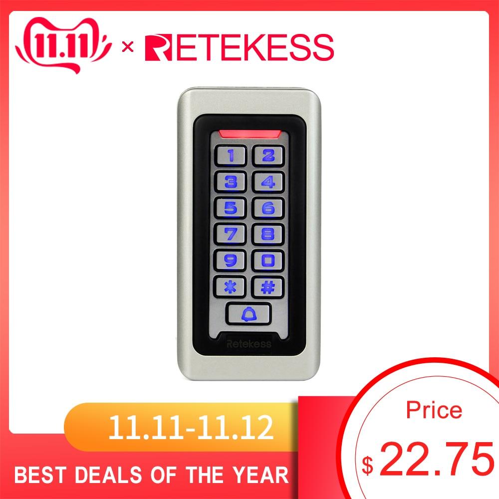 RETEKESS Rfid Door Access Control System IP68 Waterproof Metal Keypad Proximity Card Standalone Access Control With 2000 Users
