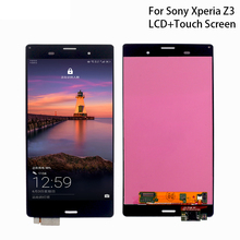 For Sony Xperia Z3 LCD Display Touch Screen Digitizer Assembly For Sony Xperia Z3 lcd L55T D6603 D6653 Display Screen LCD Tools 4 6original for sony xperia z3 compact lcd touch screen digitizer assembly for sony z3 mini display with frame replacement z3c