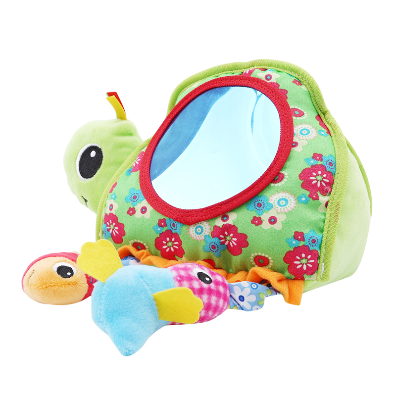 Baby Toy Stuffed Plush Baby Rattles Toddler Car Seat Tortoise Mirror Infant Stroller Hanging Newborn Toys 0-12 Months