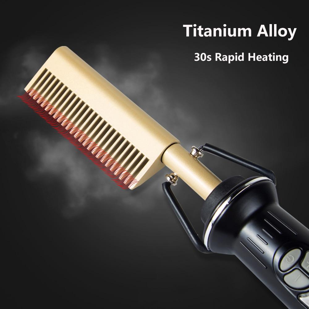 aquecimento quente pente para o cabelo