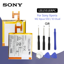 SONY Original LIS1551ERPC Phone Battery 2330mAh For Sony Xperia M2 Aqua S50h / E3 Dual D2302 D2203 D2403 D2212 D2202 D2202 стоимость