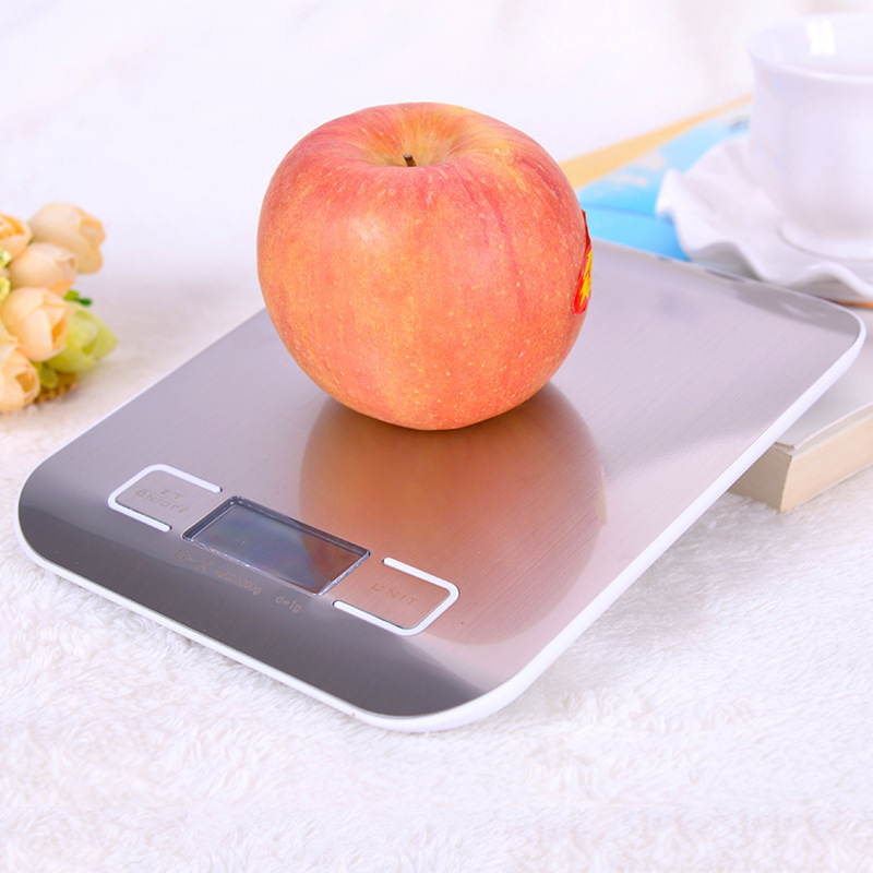 1pc Stainless Steel Digital Kitchen Scales 10kg/5kg Electronic Precision postal Food Diet scale for Cooking Baking Measure Tools