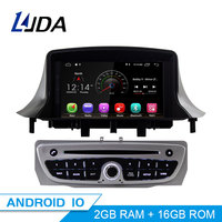 LJDA 7 Inch 1 Din Android 10.0 Car DVD Player For Megane 3 Fluence 2009 2015 WIFI GPS Radio Multimedia Steering Wheel Stereo IPS