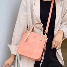 ETAILL Pink Blue Bucket Bag for Women Shoulder PU Leather Handbag Luxury Designer Female Messenger Bags