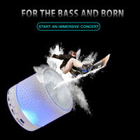 led music New Bluetooth Speaker Mini LED Music Audio TF USB HD 3D Stereo Sound Portable Speaker for IPhone Xiaomi Computer Column (1)