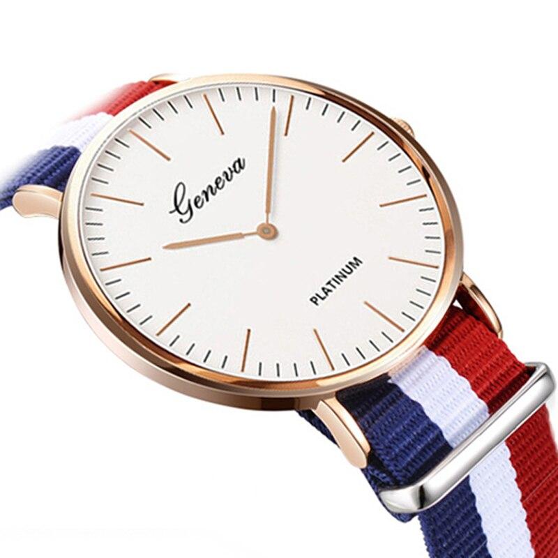 2020 Women Watches Clearance Sale Women Watches Nylon Strap Quartz Watches Casual Fashion Ladies Wristwatches Montre Femme