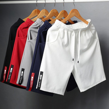 Летние мужские повседневные шорты, мужские хлопковые модные шорты бермуды, пляжные мужские шорты для тренажерного зала размера плюс 4XL, кор...